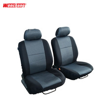 Easy clean durable waterproof black knitted jacquard fabric cheap car seat cover