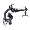 Broadcasting TV video camera jib crane 10m with motorized dutch head bear 25kg camcorder
