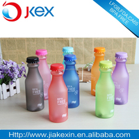 Best selling clear plastic soda bottle, colorful water bottle with rubber painting