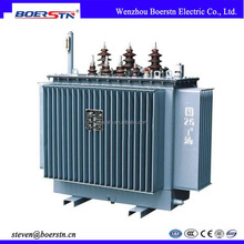 Dyn11 ONAN Cooling Hermetic Toroidal Three Phase Oil Immersed Power Distribution Transformer 100KW 200KW 300KW 400KW 500KW