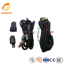 High quality oem auto fog lamp wire harness with relay switch