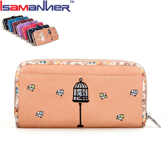 Korean cheap fancy coin ladies purse with zipper