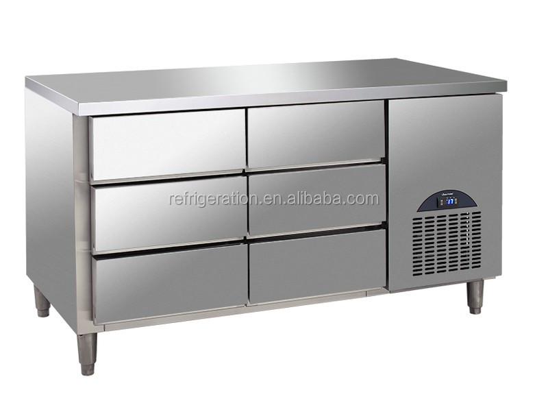 G6DF six Drawers Stainless Steel deli display Counter