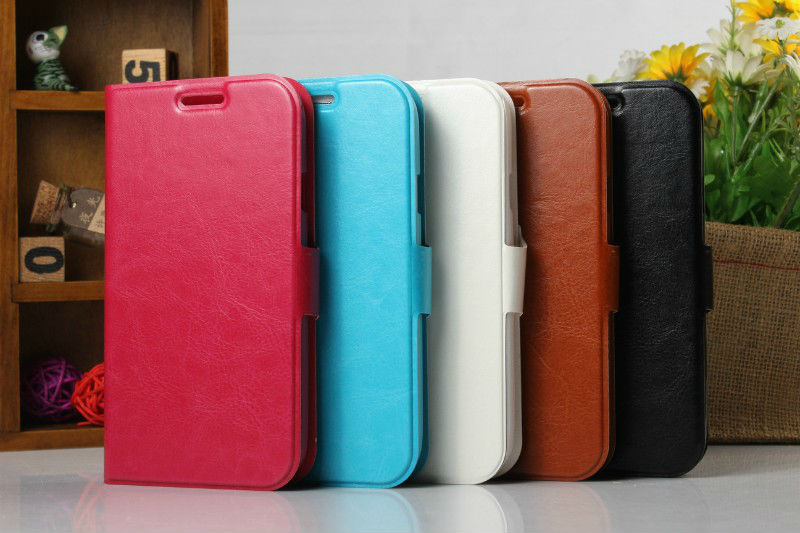 FL188 hot selling wallet case pouch Business Genuine leather case for samsung galaxy grand duos i9082