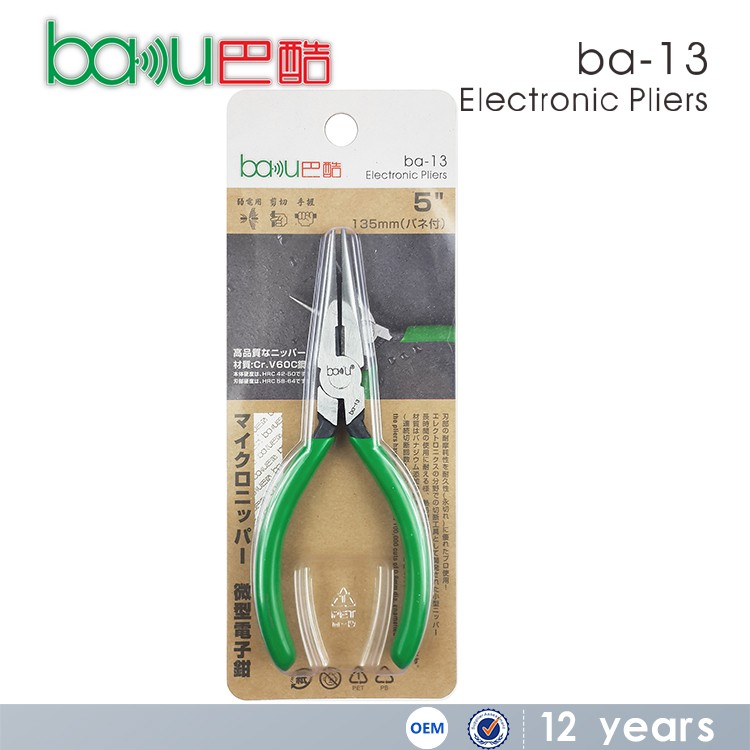 BAKU New Design Hand Tool Electronic Pliers Long Nose Pliers BAKU Ba-13