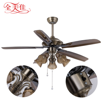 Zhongshan Manufacturer National Fancy 5 Blades 220V Dc Motor Ceiling Fan Light