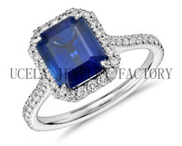 Hot sale charm fashion hand carved crystal engagement rings uk
