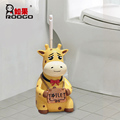 ROOGO wholesale resin novelty new design handmade cartoon animal shape home decor Toilet brush holder