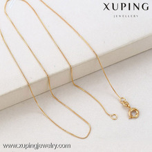 42316 Xuping Fashion New Design super thin Necklace chain, 18k Gold Plating necklace