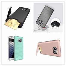 Credit Card Slots Slim Fit Shock Absorption Impact Resistant Hybrid Dual Layer Armor Protective Case Cover for apple iphone 7