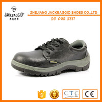 TPU reinforced toe to prevent artificial leather PVC sole cheap safety shoes