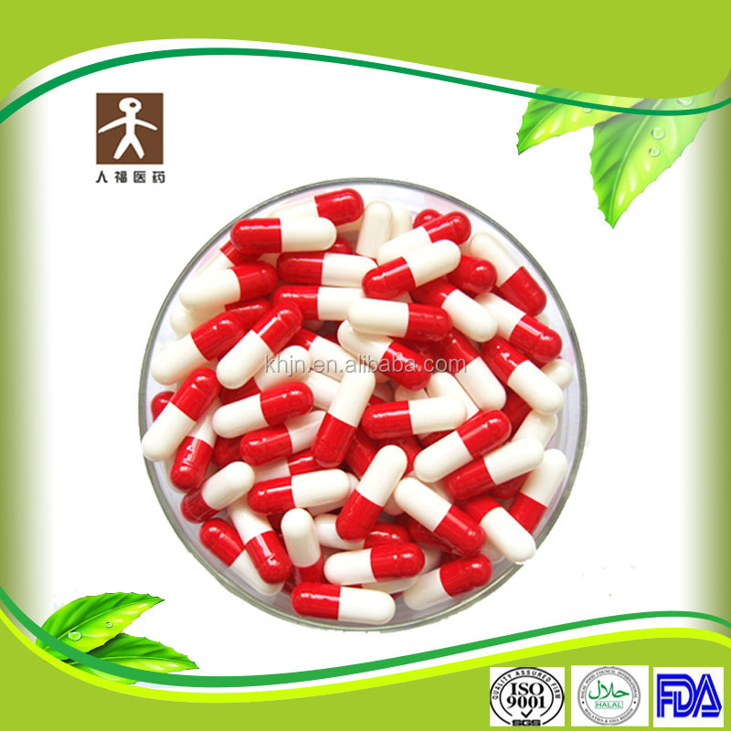 Hard Shell Size 0 High Quality Packing FDA Red White Capsule Pill