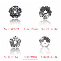 Online Shop China 925 Sterling Silver Flower Spacer Beads For Jewelry Making, Different Kinds of Jewelry Accessories and Parts