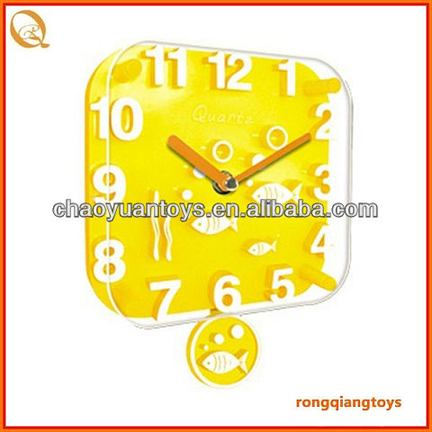 Desk timer clock 3D swing little square wall clock CK4310474