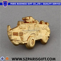 unique 3d gold military vehicle lapel pins for officer
