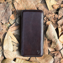 Folio opening mobile phone leather case,leather wallet case for iphone 7