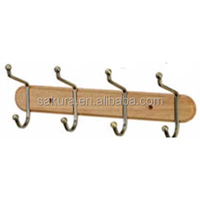 wooden door hanging wall clothes hooks coat hooks