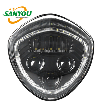 2017 newest black led headlight fit for polaris victory motorcycle with angle eye black&chrome