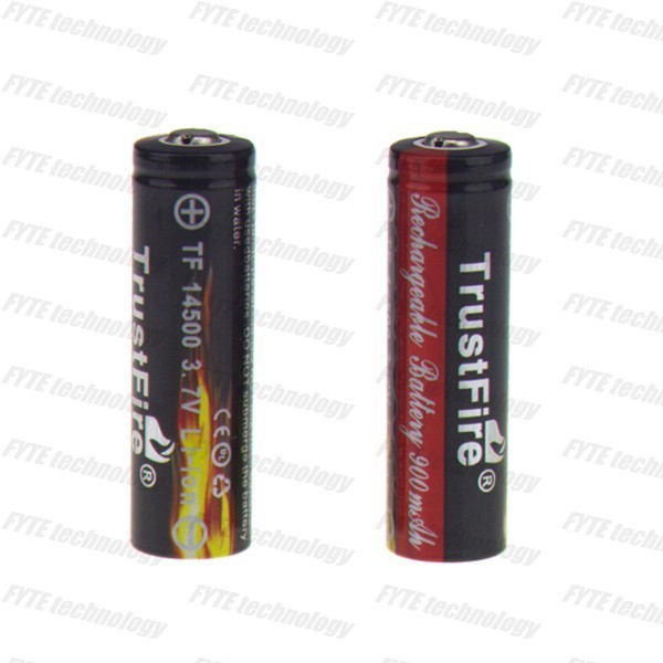 Genius TrustFire TF battery a li-ion smart cell rechargeable battery 3.7V TrustFire TF14500 900mAh