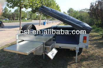 Aluminum camper trailer RC-CPT-08X with stainless steel kitchen