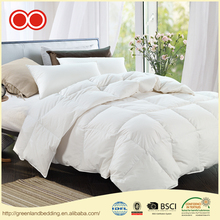 Natural 100% Cotton Fabric With White Hypoallergenic Goose Down Filled Bedding Comforter Manufacturer