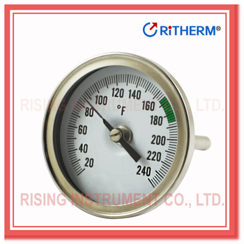 bimetal pipe thermometer stainless steel industry bimetal thermometer