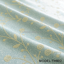 2017 hot selling flower 100% polyester jacquard curtain fabric