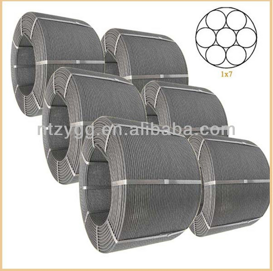7 wire low relaxation prestressed concrete strand
