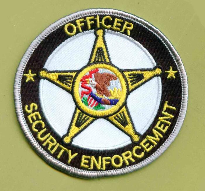Embroidered Technics and Eco-Friendly Feature officer security enforcement round star embroidery patch, embroidered badge
