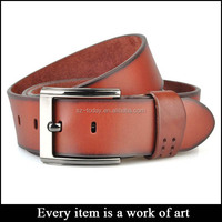 High quality top brand leather belt, western leather belt strap