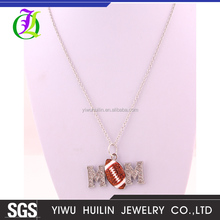 A500337 Yiwu Huilin Jewelry high quality crystal football double M pendant fashion trends chain necklace