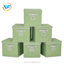 High quality wholesale China bin polyester storage cube hot sell storage fabric box with lid label