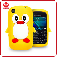 Hot Sale Penguin Silicone Soft Rubber Cover Case for Blackberry 9220 9320