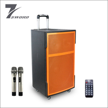 15 inch subwoofer 450W active portable trolley speaker with rechargeable battery