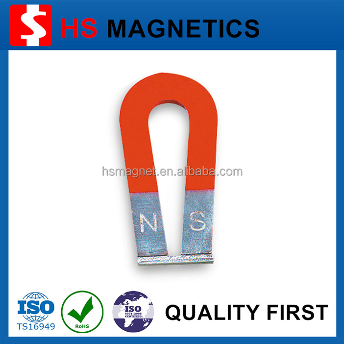 Red U Shape/Horse Shoe Shape High Quality AlNiCo Magnet with Keeper for Sale