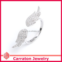 hot sale jewelry 2015 fashionable 925 sterling silver angel wing ring