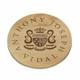 Engraved wooden coaster unfinished for tea cup