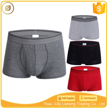 Professional OEM factory custom made mens underwear cotton with front fly opening