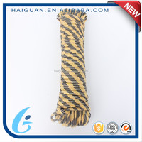 32 strands yellow and black core-spun braided rope