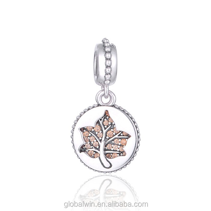 925 Sterling Silver Dangle Canada Tree of Life <strong>Charms</strong> fit for Silver Bracelet <strong>Charms</strong> Jewelry