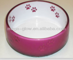 popular led Clear Useful Resin anti-skidding Pet Bowl for Dogs and Cats