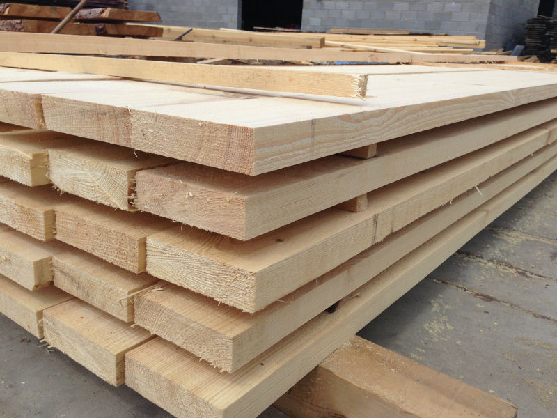 Pine Solid Wood Board, Rough Sawn Timber For China Market (Yantian)