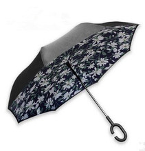 New design more colors rain umbrella opposited reverse fancy design umbrella