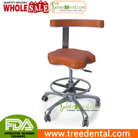 TR-022 Dentisit's Anti-Fatigue Seat Stool Chair with Bar Ring, Microfiber Leather,adjustable lab stool