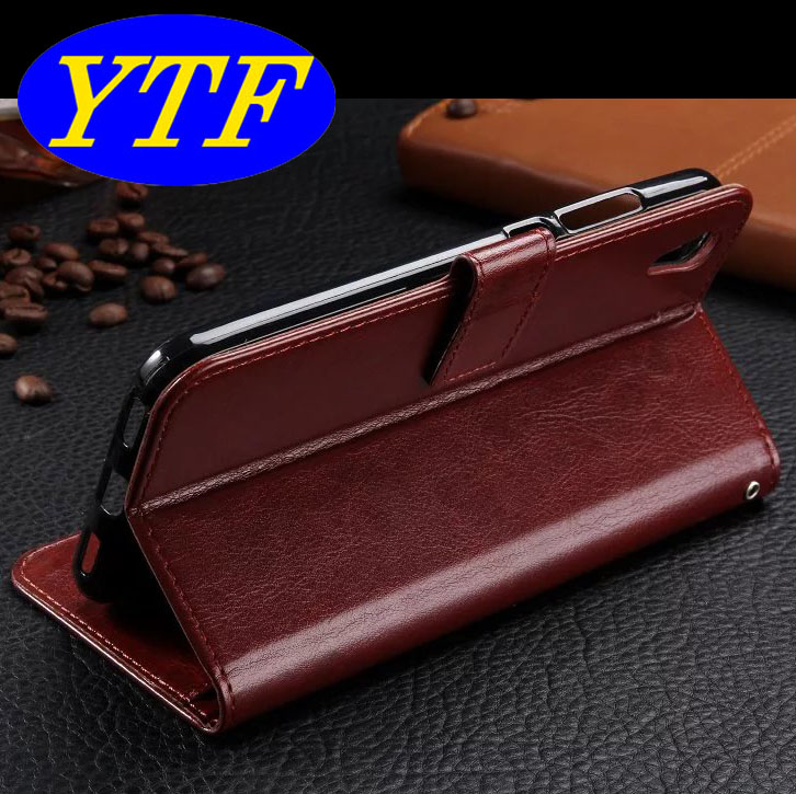 2017 hot selling Wallet PU leather flip case for P9 Lite 5 colors
