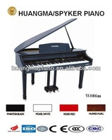 HUANGMA HD-W086m digital grand piano for car music rhythm lamp led sound activated equalize