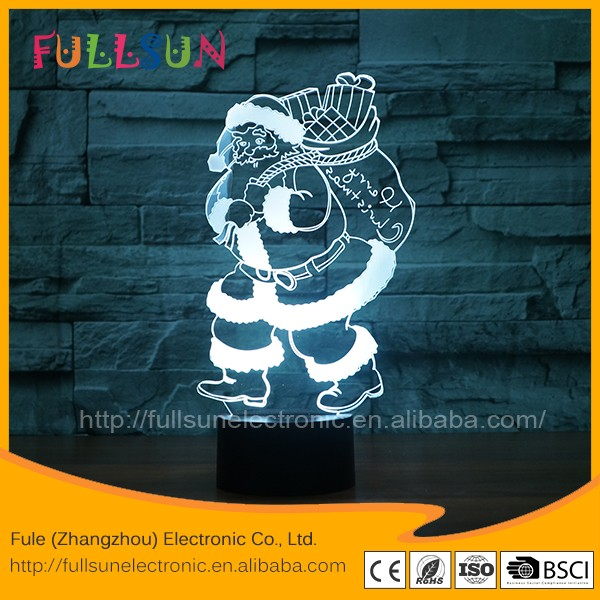 3d christmas lights baby room light FS - 3566
