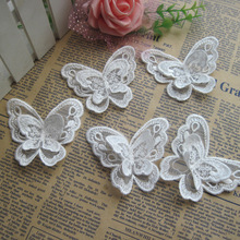 3D Organza <strong>lace</strong> trim butterfly shape <strong>embroidery</strong> <strong>lace</strong> trimming