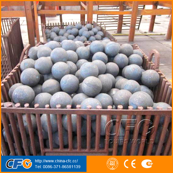 Cement Mill Casting or Forged 80mm Grinding Steel Balls for Sale in Mexico