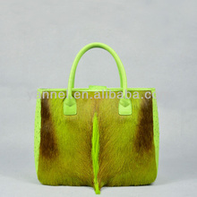 genuine fur handbags antelope fur lady tote bags exotic skin collection bags manufacturer